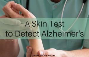 Skin Test for Alzheimers