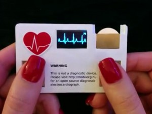Business card with built in electrocardiograph medical automation ecg business card colourmoves